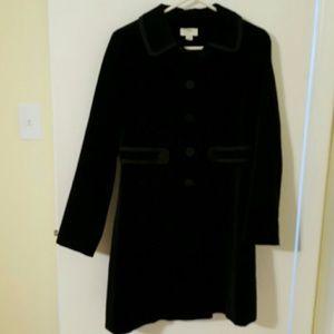 ann talyor loft black velvet coat